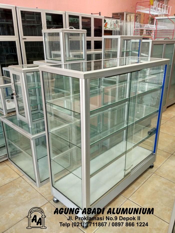 Foto Produk Etalase Kaca 1 Meter dari Agung Abadi Alumunium