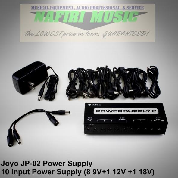harga Power supply untuk stompbox efek gitar joyo jf-02 10 input 9v 12v 18v Tokopedia.com