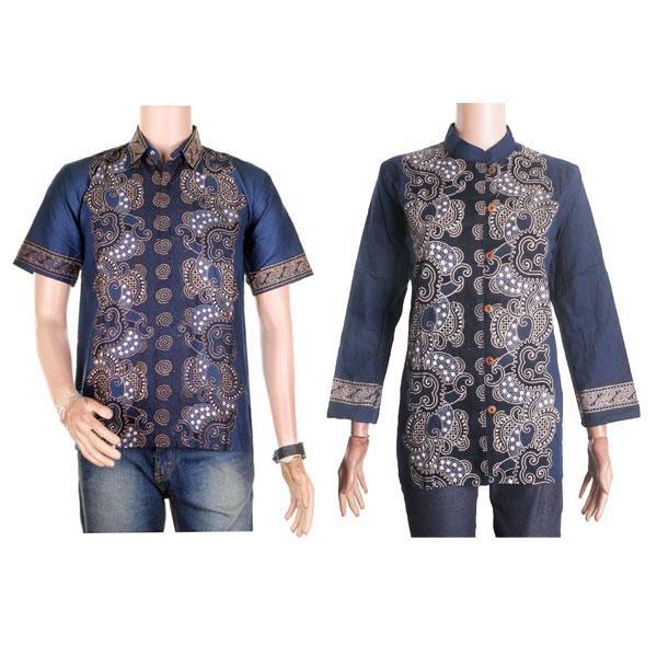 harga Sarimbit/couple batik kemeja-blus sabrina (sepasang) - dongker Tokopedia.com