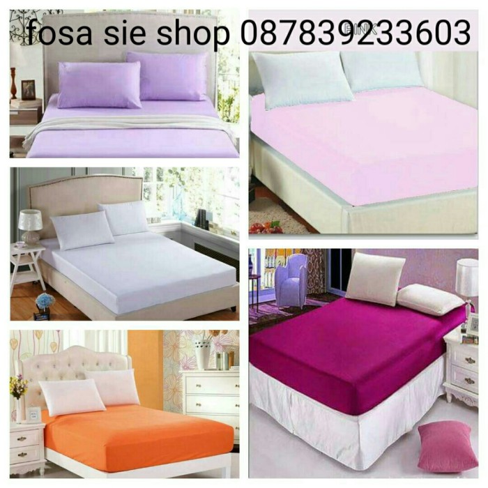 harga Sprei waterproof anti air, anti tungau, anti ompol uk 160x200x20 polos Tokopedia.com