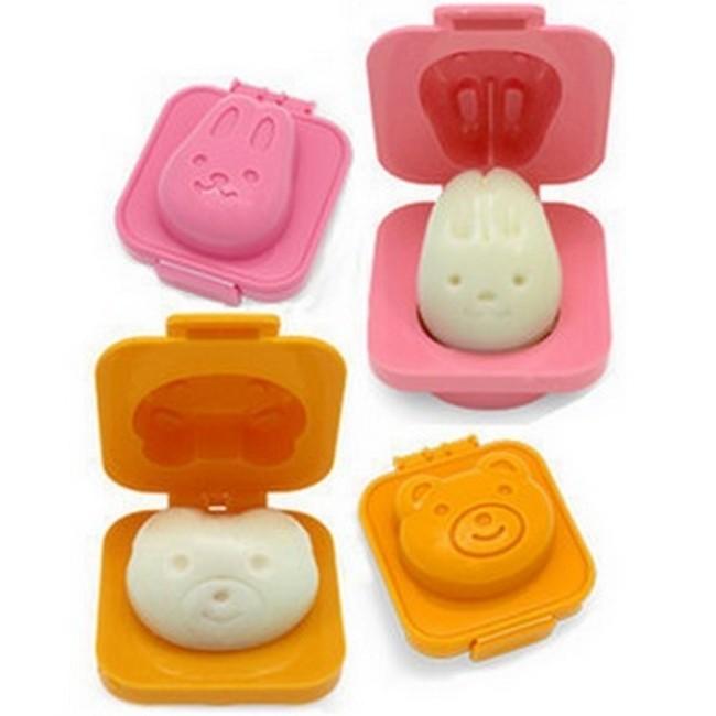 Foto Produk Cartoon Rabbit and Bear Egg Rice Cake Mold / Cetakan Telur - Orange dari jahat