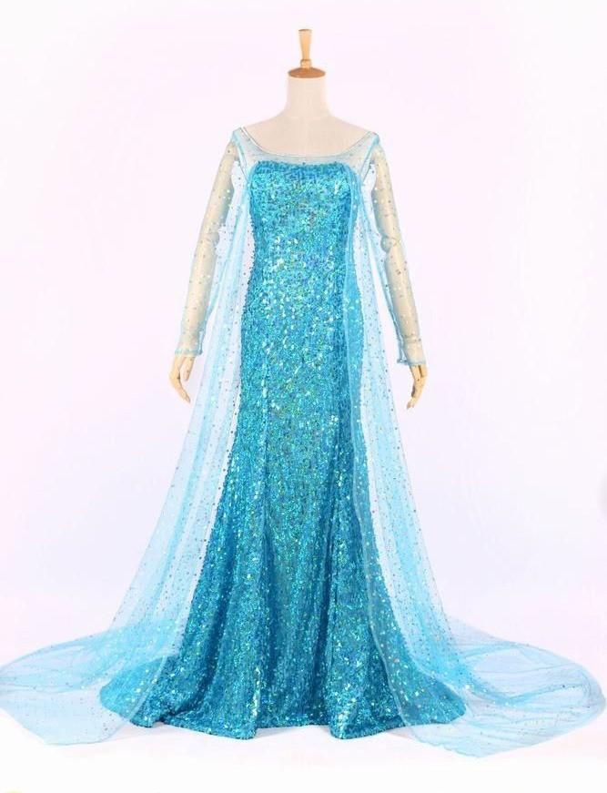 harga Cosplay baju wanita  dress kostum frozen elsa gaun dewasa Tokopedia.com