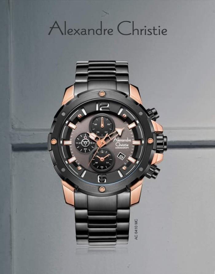 Jam tangan Pria Alexandre christie 6410 MCBBRBA Original