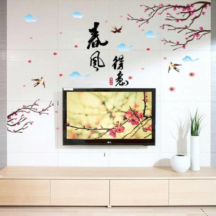 jual wall sticker 60x90 ranting kanji - sabrina wallstiker | tokopedia