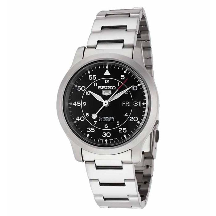 harga Jam tangan uniex - seiko 5 snk809k1 automatic silver black new Tokopedia.com