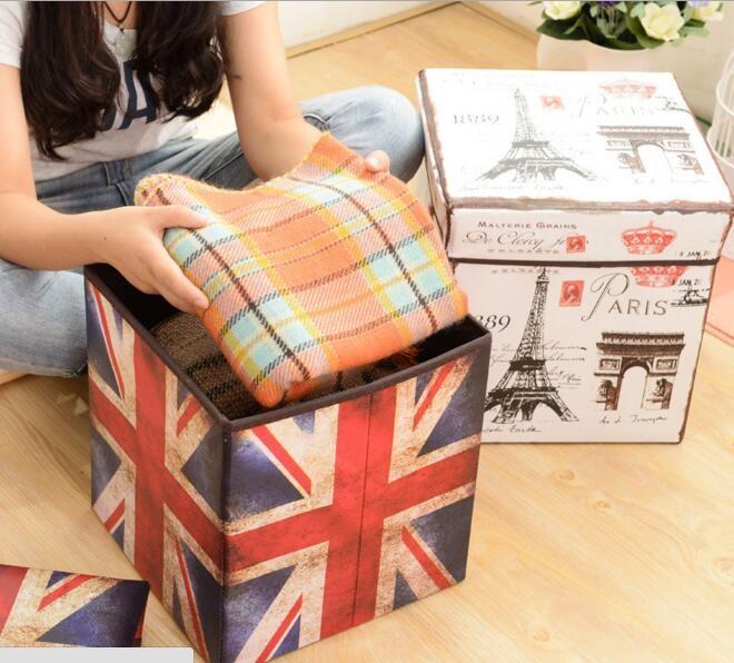 harga Storage box bendera inggris / kotak tempat mainan majalah bs jd bangku Tokopedia.com