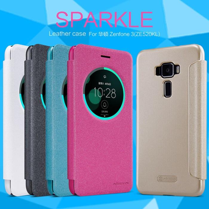 Asus (zenfone 3 52) flip cover nillkin sparkle case