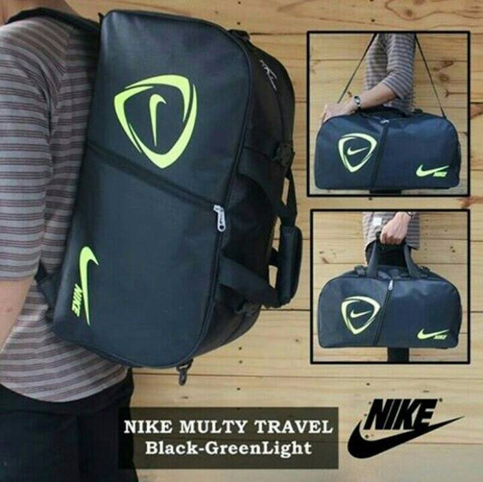 harga Tas Nike Multifungsi (selempang/jinjing/gendong) Black Lis Green Tokopedia.com