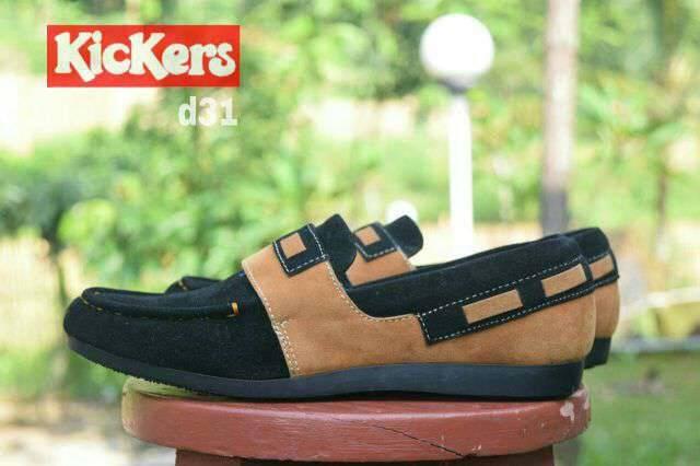 Sepatu Casual Pria Kickers Flick Slop Slip On Suede Pria 04
