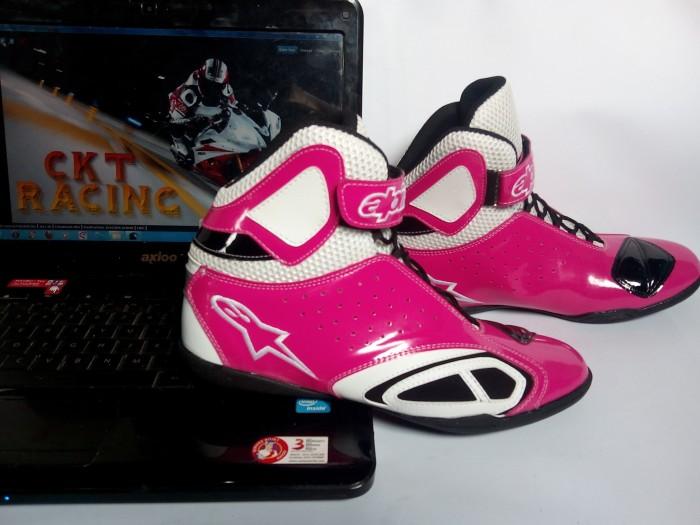 harga Sepatu drag /balap/touring alpinestar pink Tokopedia.com