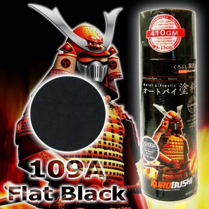 SAMURAI PAINT   109A FLAT BLACK / HITAM DOFF   CAT SEMPROT AEROSOL