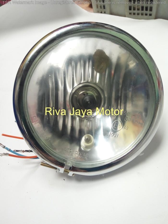 harga Reflektor lampu depan pesek model harley universal cb100 cb tiger Tokopedia.com