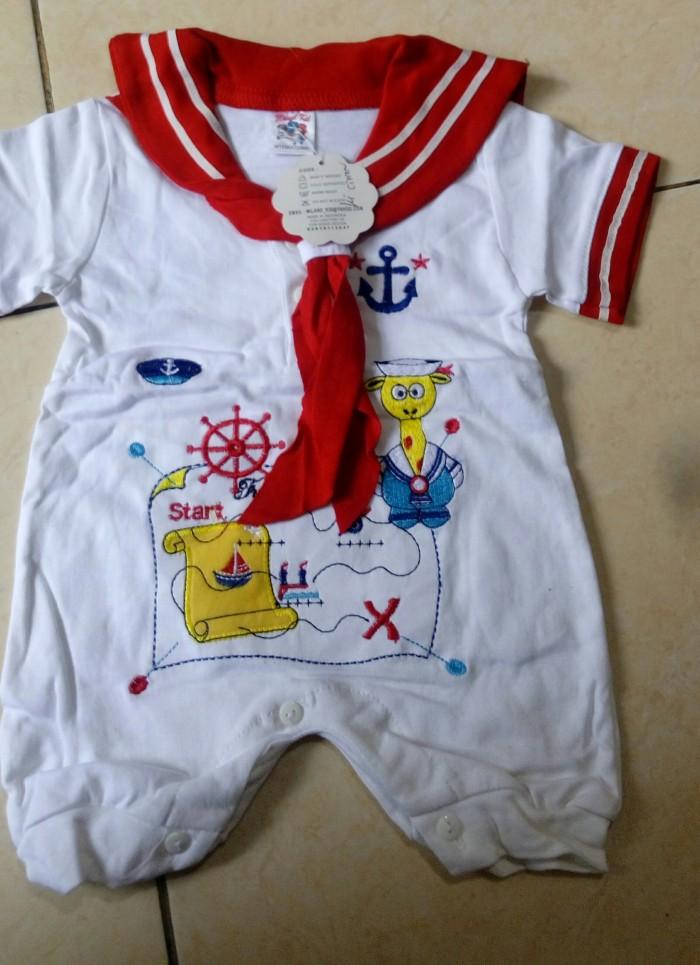 harga Baju kodok pelaut/sailor untuk usia 0-6 blnan Tokopedia.com