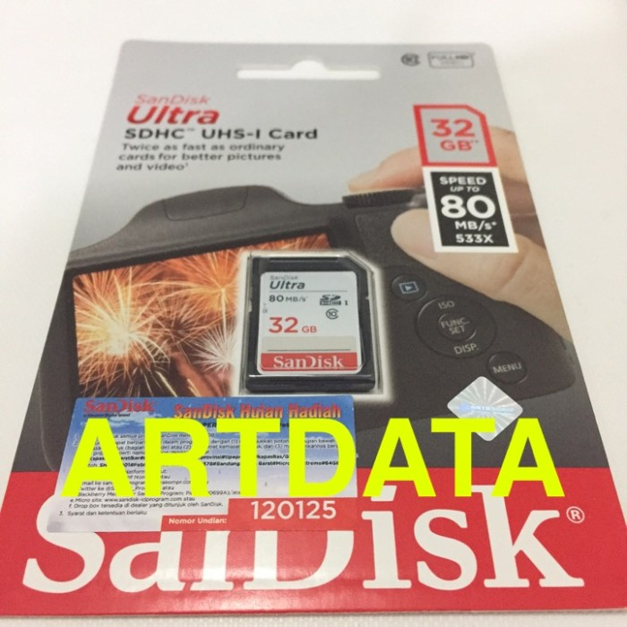 harga Sandisk ultra sd card / sdcard sdhc 32gb class 10 80mb/s original Tokopedia.com