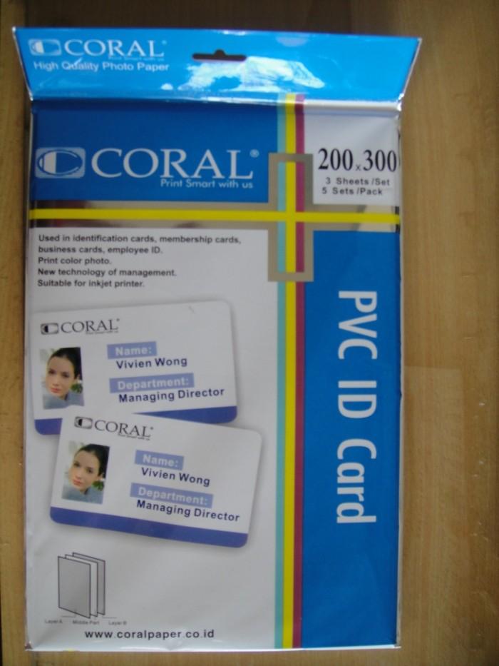 harga Kertas Pvc Coral / Bahan Id Card 5 Set Tokopedia.com