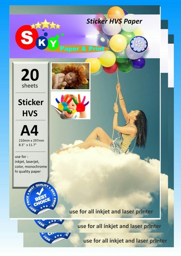 Foto Produk Kertas Sticker HVS A4 merk Sky 20 sheets dari Si Pesek