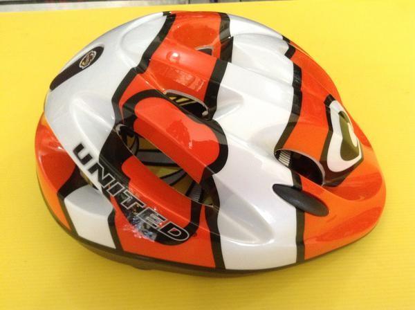 harga Helm sepeda anak merk united - warna orange putih  motif  ikan Tokopedia.com