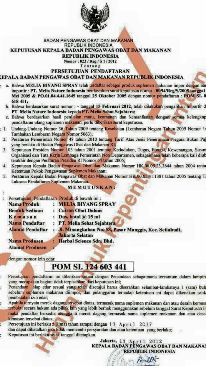 Melia Biyang Original 15 Ml Daftar Harga Terlengkap Indonesia 15ml 100original