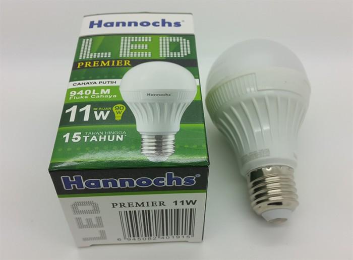 Lampu led hannochs 11 watt bulb setara 90 watt ( cahaya putih ) ...