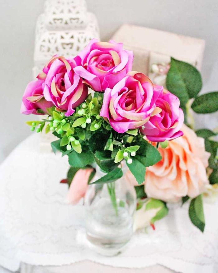 harga Bunga plastik / bunga hias / bunga artificial mawar rose ros ross 2 Tokopedia.com