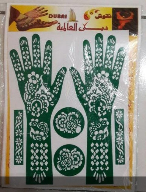 Jual Cetakan Henna Hena Mol Tangan Cetakan Henna Tangan Penuh Mbi