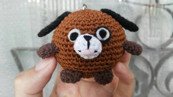 Amigurumi Boneka : Jual amigurumi boneka rajut anjing melet lovashopaholic