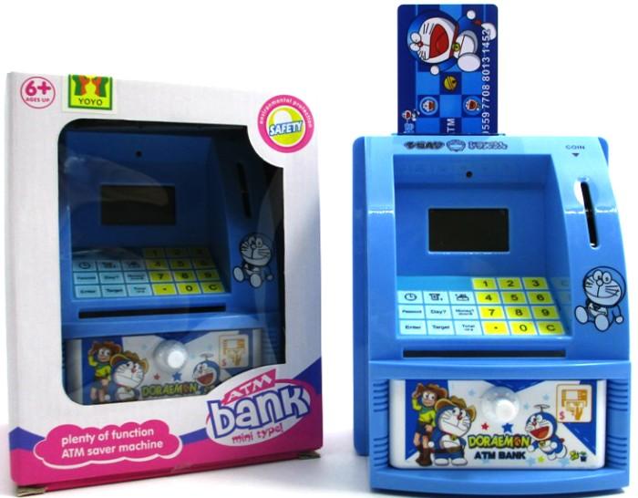 harga Mainan edukatif / edukasi anak - celengan atm mini happy bank doraemon Tokopedia.com