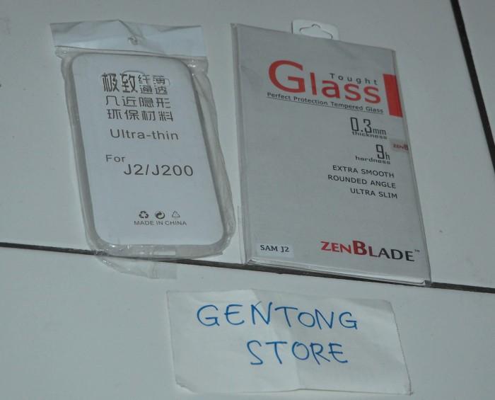 SILICON SOFT CASE + ZENBLADE TEMPERED GLASS SAMSUNG GALAXY J2