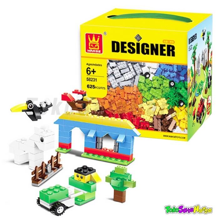 harga Mainan edukasi brick lego wange designer 58231 duplo classic 625pc Tokopedia.com