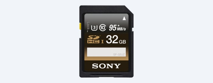 harga Sony sd card sfuz series 32gb u3 4k (read 95, write 90mb/s) Tokopedia.com