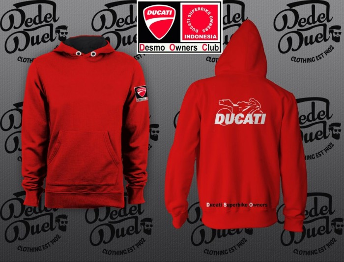 Foto Produk jaket hoodie zipper DUCATI COLLECTION TERBARU KEREN SIZE. S M L XL XXL dari batavia distro 13