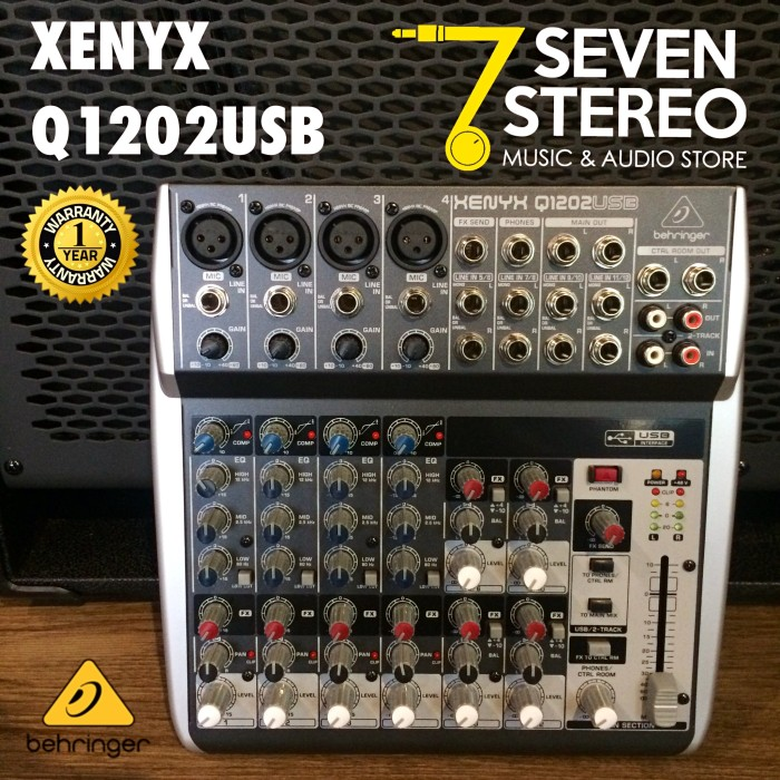 harga Mixer Behringer Xenyx Q1202usb With Soundcard Untuk Recording Tokopedia.com
