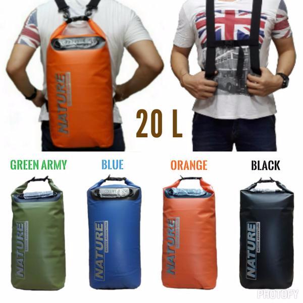 e4d54ff6a4f Jual Tas Drybag Nature 20L waterproof double strap  tas anti air ...