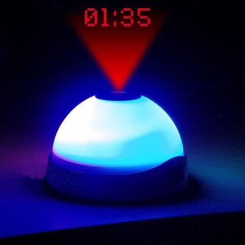 harga Star night light magic projection alarm table clock - white Tokopedia.com