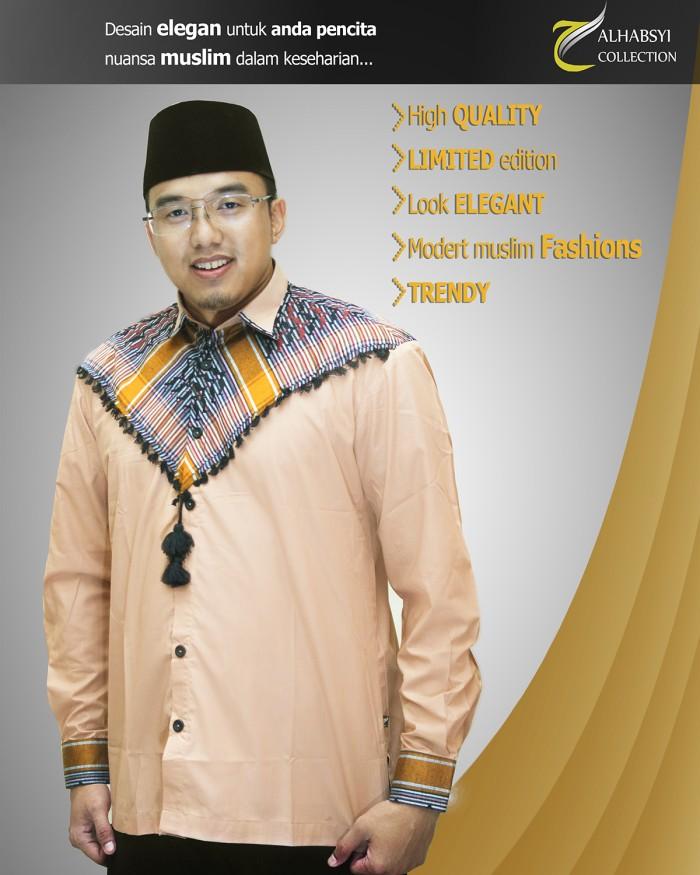 Baju Koko Pria Modern Sorban Terbaru Alhabsyi J03