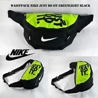 harga Waistpack nike just do it greenlight black Tokopedia.com