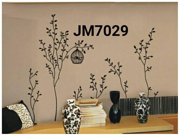 jual wall sticker / wall stiker / stiker dinding pohon hitam jm7029