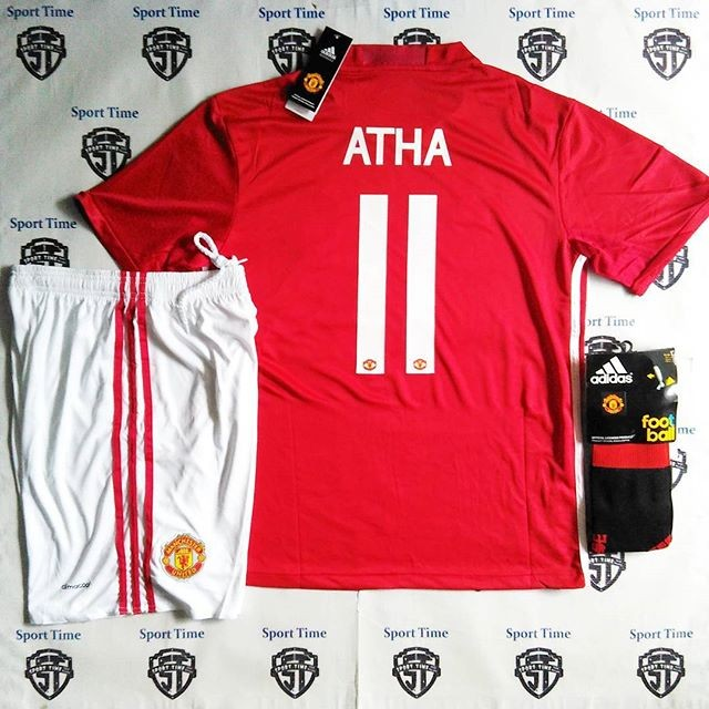 Jual Jersey Manchester United Mu Home Celana Kaoskaki Nameset Kota Malang Sport Time Id Tokopedia