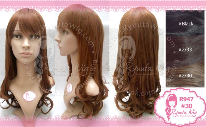 harga 947 | wig long wavy curly panjang keriting gantung poni depan Tokopedia.com