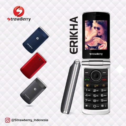 harga Hp strawberry s-3 / s 3 / s3 erikha dual sim 2.8  garansi 1 tahun Tokopedia.com