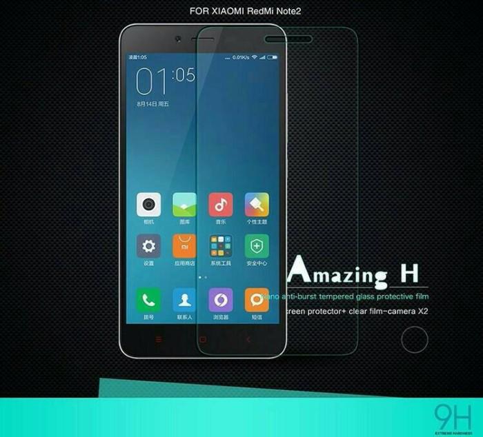 Tempered Glass Xiaomi Redmi Note 2 Prime Screen Guard Anti Gores Kaca