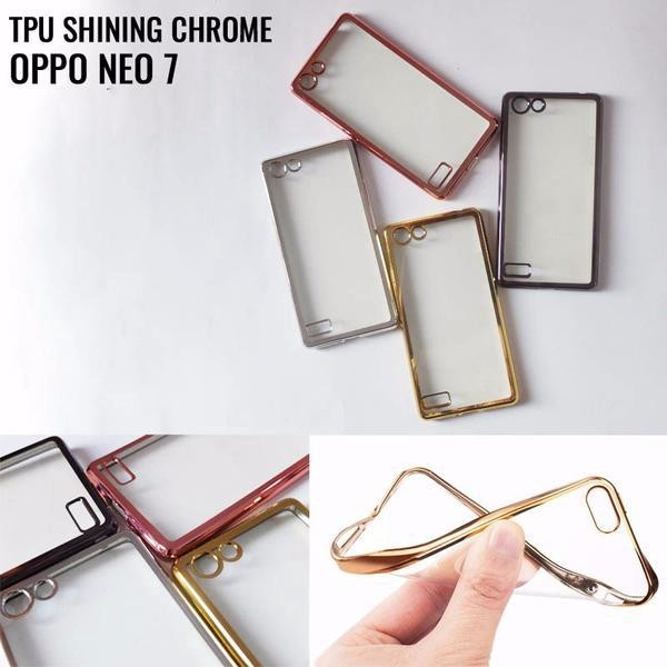TPU Shining Chrome Oppo Neo 7 A33 Ultrathin .