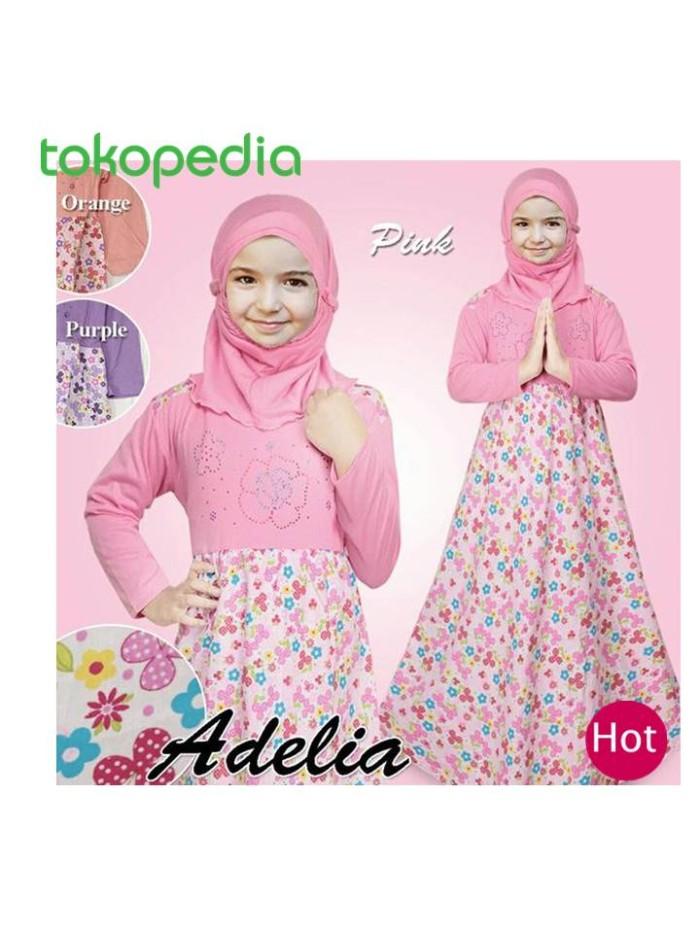 Jual Gamis Baju Anak Perempuan Motif Bunga Mote Busana Muslim Anak