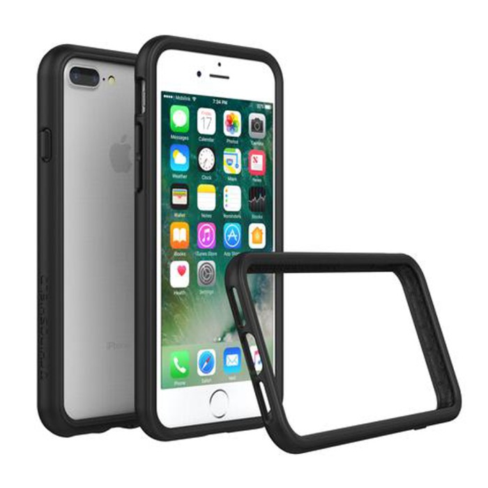 harga Rhino shield crash guard bumper only for iphone 7 plus - black Tokopedia.com