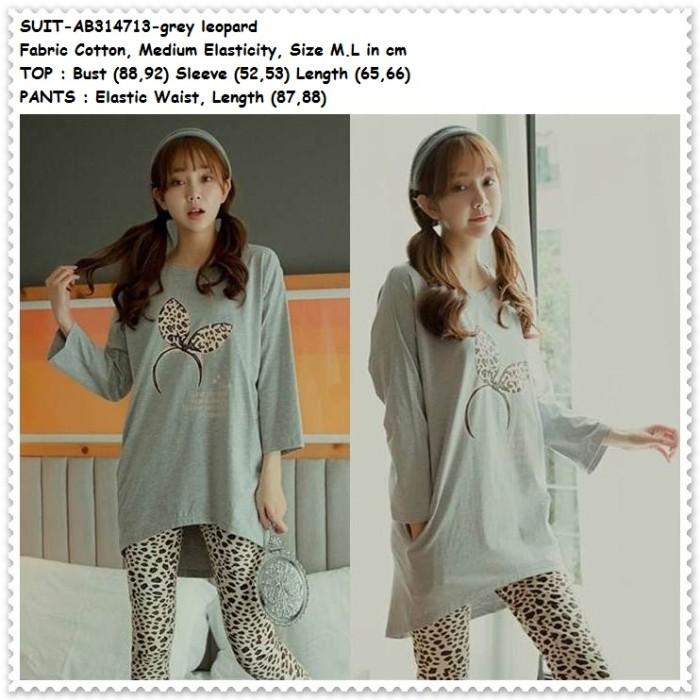 harga Setelan baju celana tidur leopard piyama wanita dewasa korea import Tokopedia.com