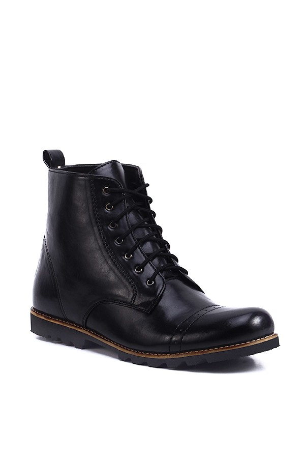 harga Sepatu boots chukka casual semi formal pria murah - jack austin black Tokopedia.com