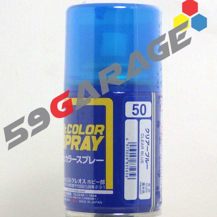 harga S 50 clear blue  -  cat gundam model kit spray can Tokopedia.com