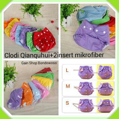 harga Clodi qianquhui+2insert popok  pempers  cloth diaper  hadiah bayi Tokopedia.com