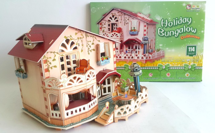 harga 3d puzzle dream doll house  holiday bungalow  sangat cantik & cute Tokopedia.com