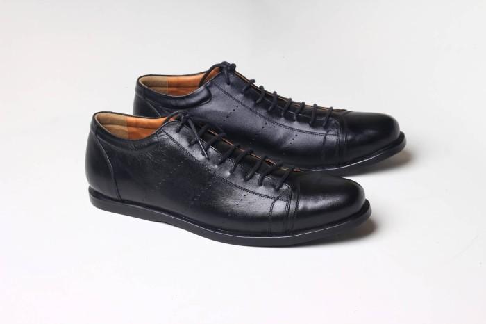 Jual Sepatu Kulit Pria Asli Boston Allen Black  9976eac8df
